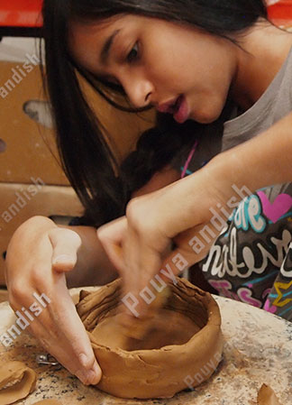 kids pottery 1 - سفالگری کودکان