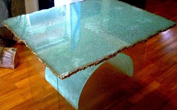 cracked glass - پتینه کاری روی شیشه