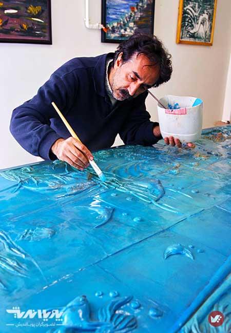 naghsh barjaste modern 1 - آموزش تابلو نقش برجسته مدرن