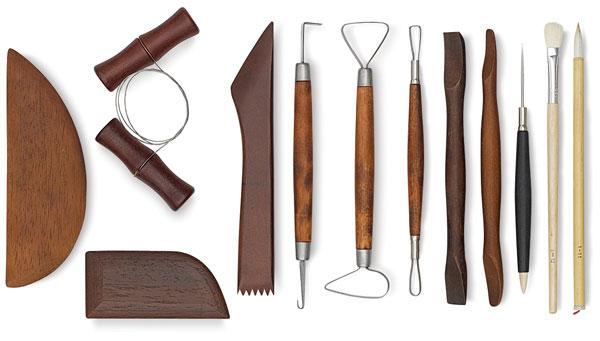pottery tools - مراحل سفالگری