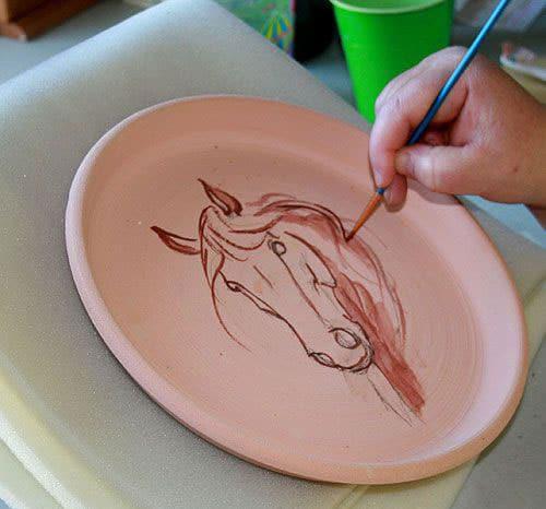 نقاشی زیر لعاب