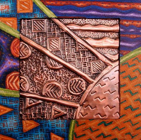 embossing art - اهمیت آموزش نقش برجسته