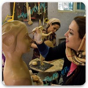 modern sculpting - سفالگری ، آموزش سفالگری ، آموزشگاه سفالگری