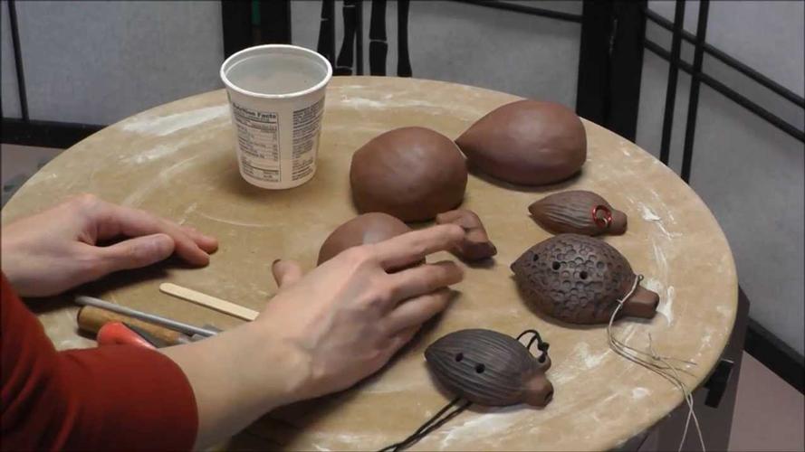 clay handmade - آموزش ساخت ساز بادی اوکارینا با سفال