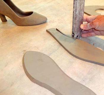 clay shoe 3 - ساخت کفش با گل رس