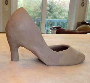 روش ساخت کفش با گل رس