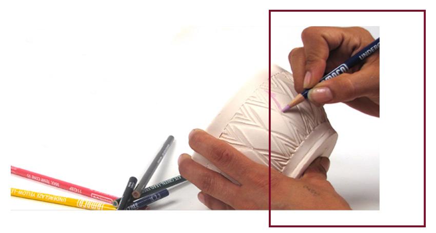 UnderglazePencil - لعاب روی سفال ، ترکیب ، استفاده و کاربرد های آن
