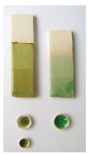 green glaze - آموزش رنگ لعاب سفال