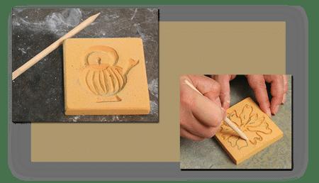 wet clay - چطور طرح های نقش برجسته را روی گل خیس کنده کاری کنیم ؟